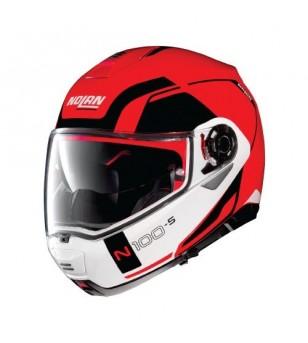 Casco N100-5 Consistency N-Com 23 Rojo Corsa Nolan