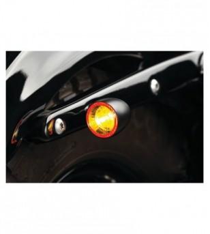 Direccional tras LED K-MANN BULLET 1000 cromo (luz ambar / rojo stop) Multi-Fit 2554 Kury