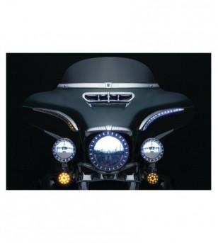 Luces Direc LED RUN/TURN SEQUENTIAL BAT LASHES cromo H-D 7131 Kuryakyn